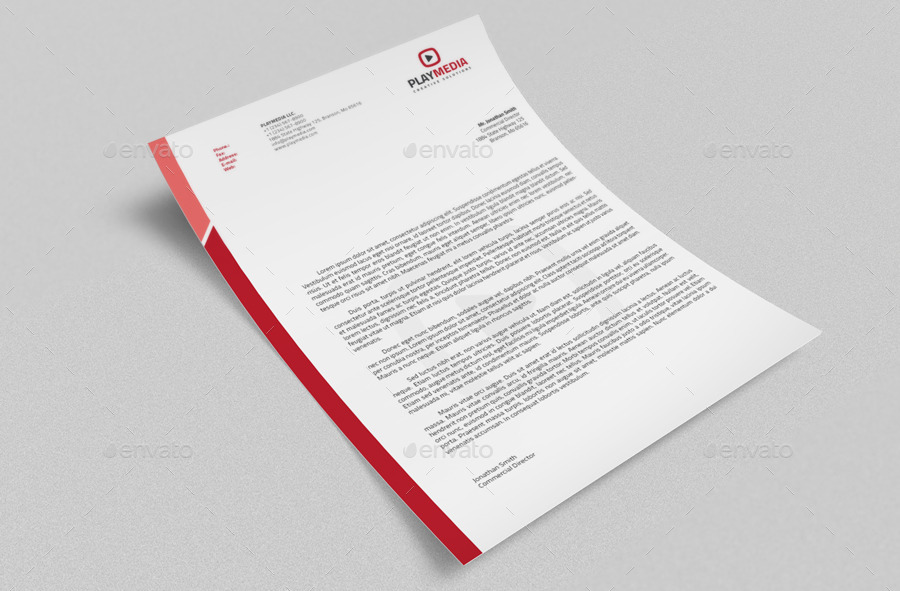 Corporate Letterhead Vol2 with MS Word Doc by nazdrag GraphicRiver