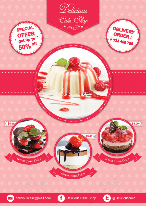 Cake Flyer Template by avindaputri GraphicRiver