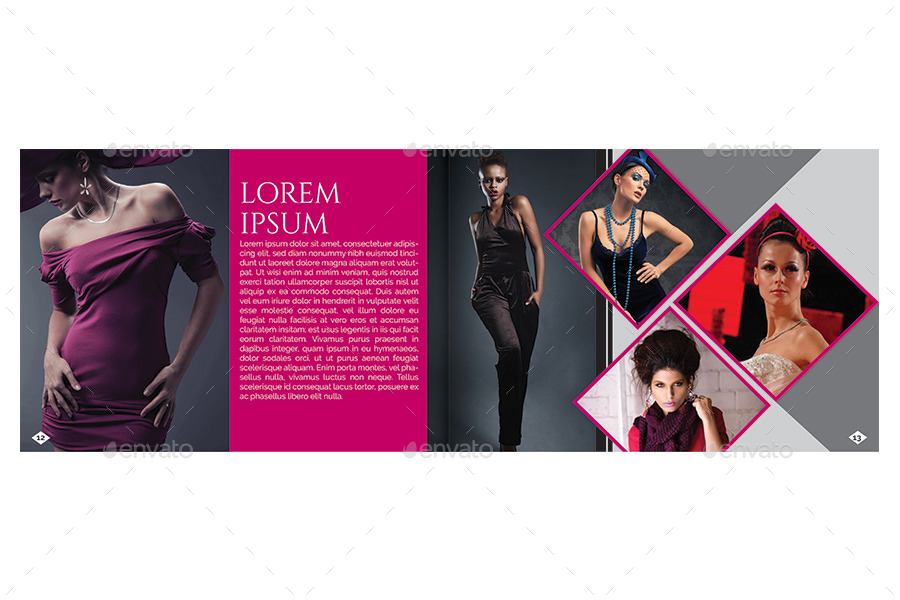 A5 Fashion Brochure / Booklet Template by Reusam GraphicRiver