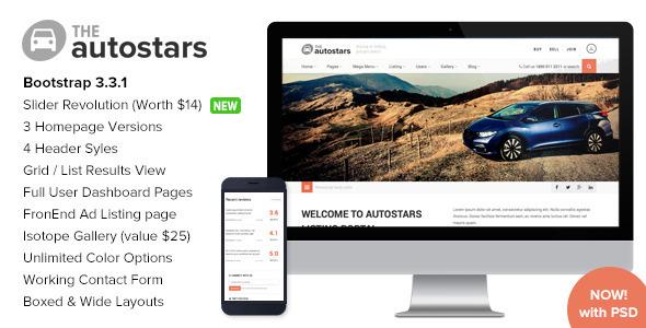 AutoStars - Responsive Car Dealership Template by imithemes - car ad template