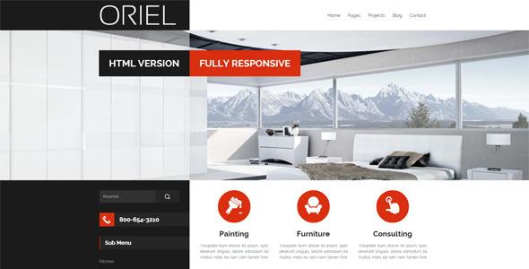Interior Design HTML Website Templates from ThemeForest
