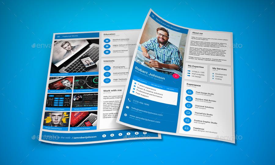 MaDe - Material Design Resume / CV Template by vinyljunkie - design cv template