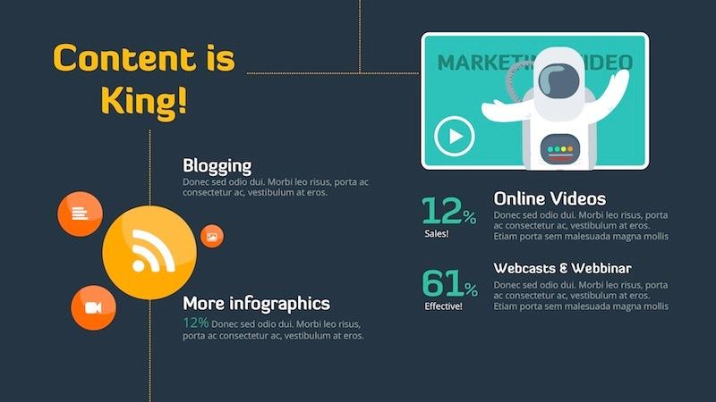 Digital Marketing Strategy - Keynote Template by Slidehack