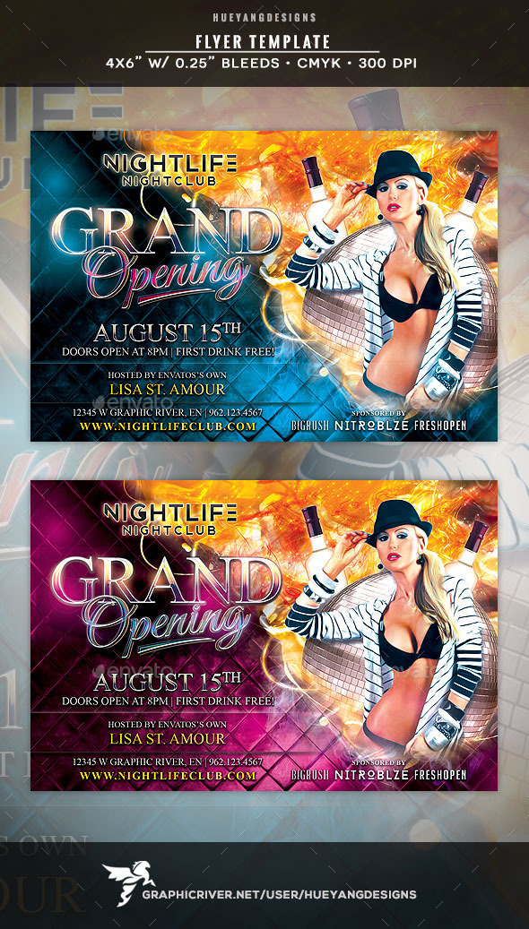 Grand Opening Flyer Template by hueyangdesigns GraphicRiver - Grand Opening Flyer