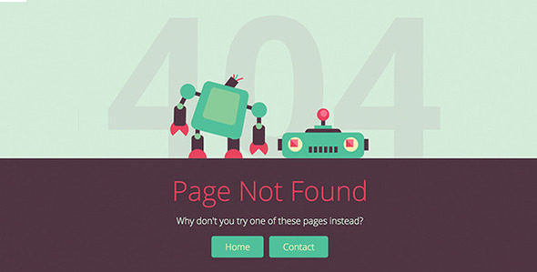 Brokebot - Animated SVG 404 Error Pages by dxc ThemeForest