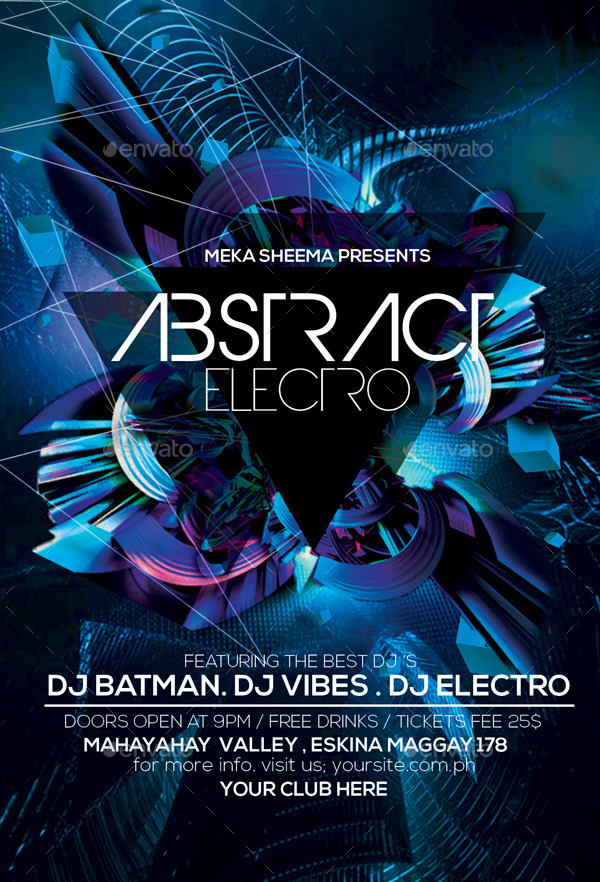 Abstract Electro Flyer by Anea27 GraphicRiver - electro flyer