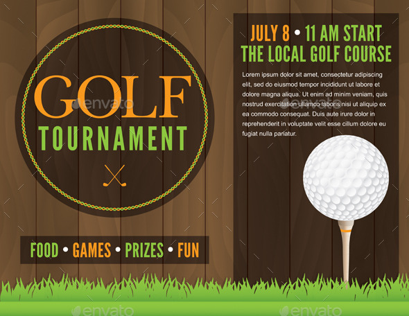 Golf Tournament Flyer Illustration by enterlinedesign GraphicRiver - golf tournament flyer template