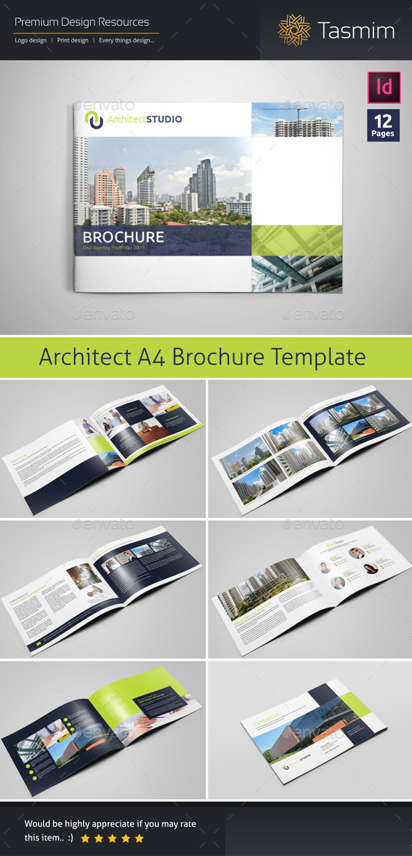 Architect Studio Brochure Template by Tasmim GraphicRiver - architecture brochure template