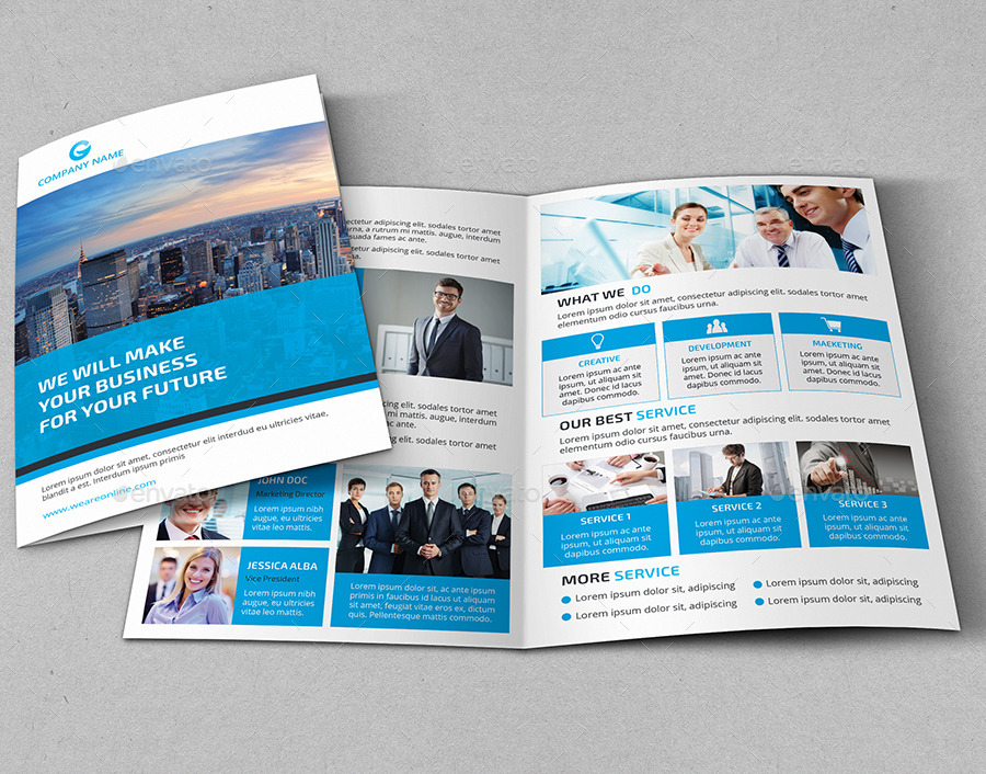 Corporate Marketing Bi-Fold Brochure by design_pick GraphicRiver - marketing brochure