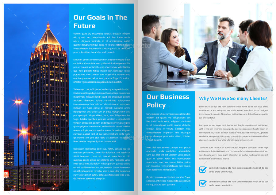 Corporate Newsletter Template - 4 Pages by Addaxx GraphicRiver - corporate newsletter template