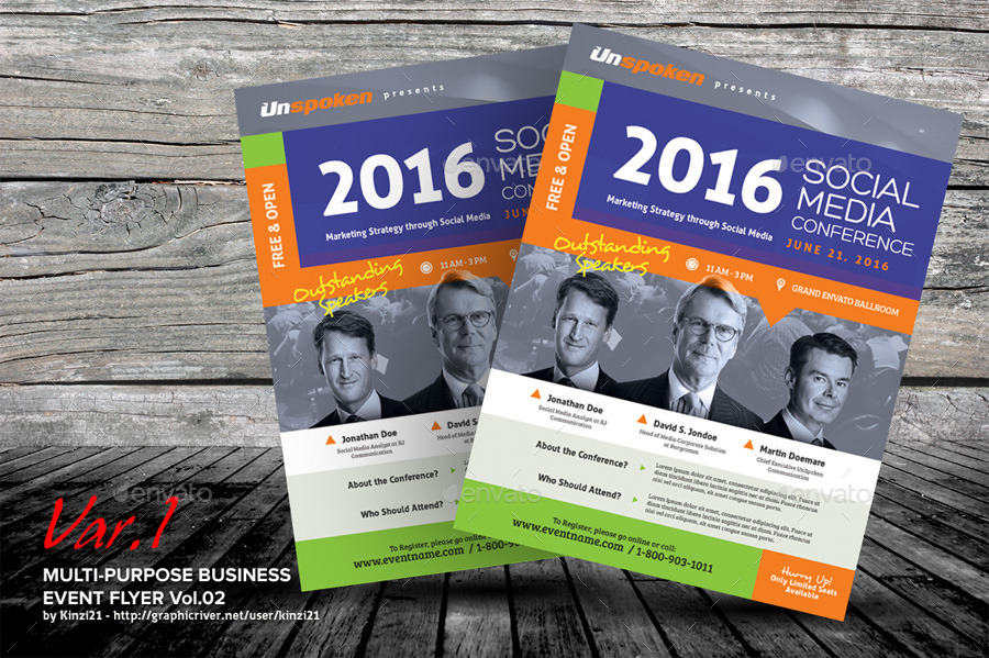 Multi Purpose Business Event Flyer or Poster v02 by kinzi21 - event flyer