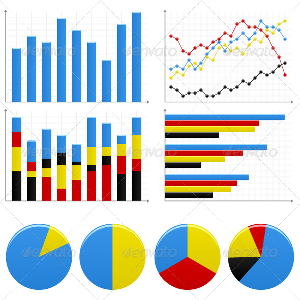 Bar Pie Graph Chart by Leremy GraphicRiver - chart and graph