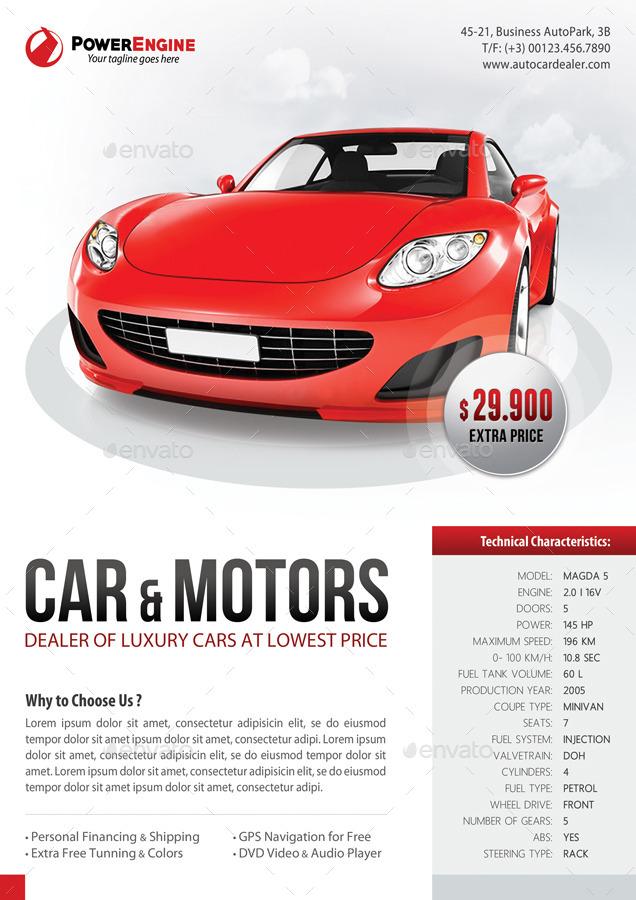 3 in 1 Automotive Car Sale Rental Flyer Bundle by rapidgraf - car for sale flyer