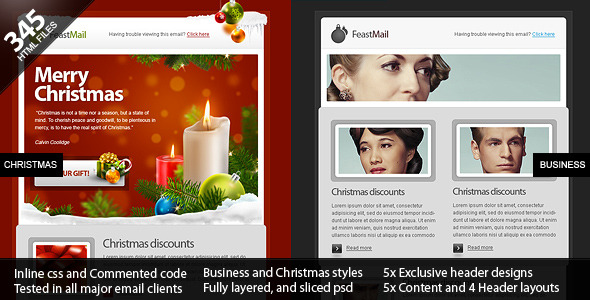 FeastMail - Christmas and Corporate Email Template by olegnax