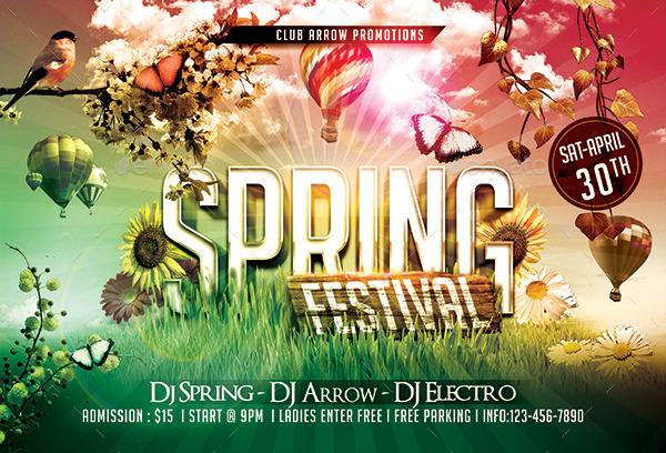 spring festival flyer template - Heartimpulsar - spring flyer template