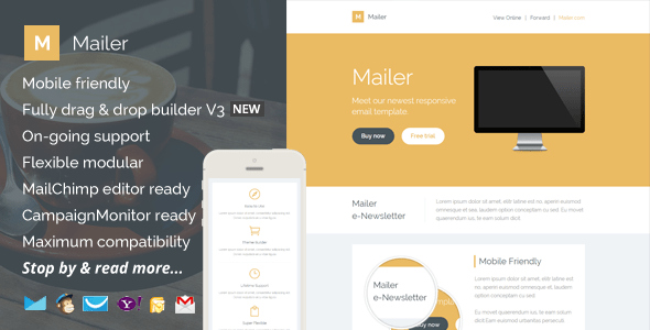 Mailer Responsive Email Template Builder Access