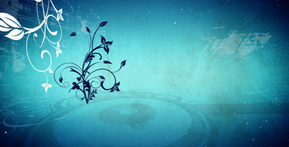 Blue abstract flowers background loop by spc01 VideoHive