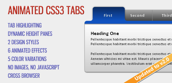 Animated CSS3 Tabs by cosmocoder CodeCanyon