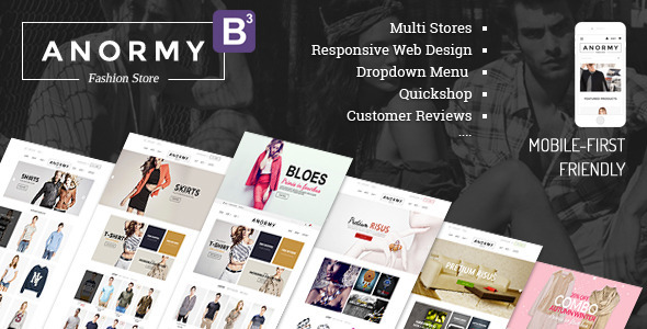Anormy - Flexible Shopify Template by tvlgiao ThemeForest - shopify template
