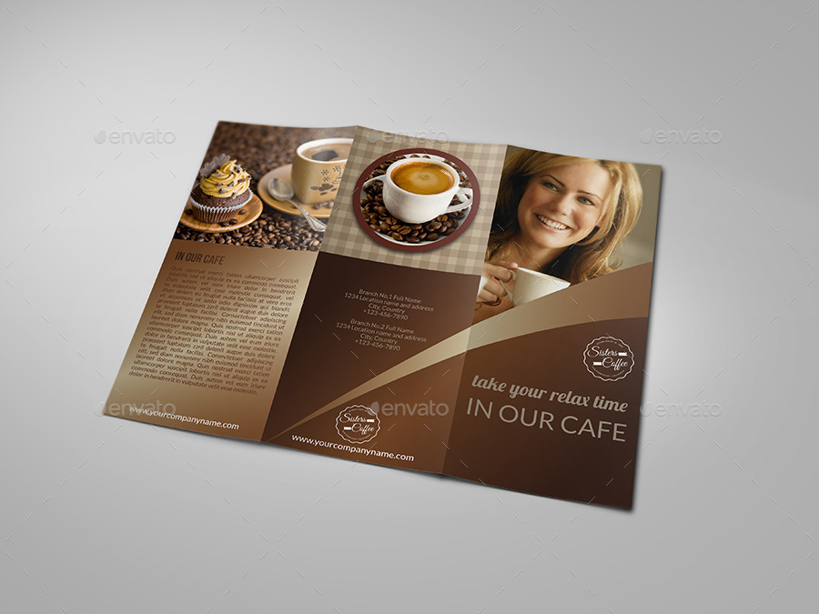Cafe and Coffee Shop Menu Tri-Fold Brochure by OWPictures GraphicRiver
