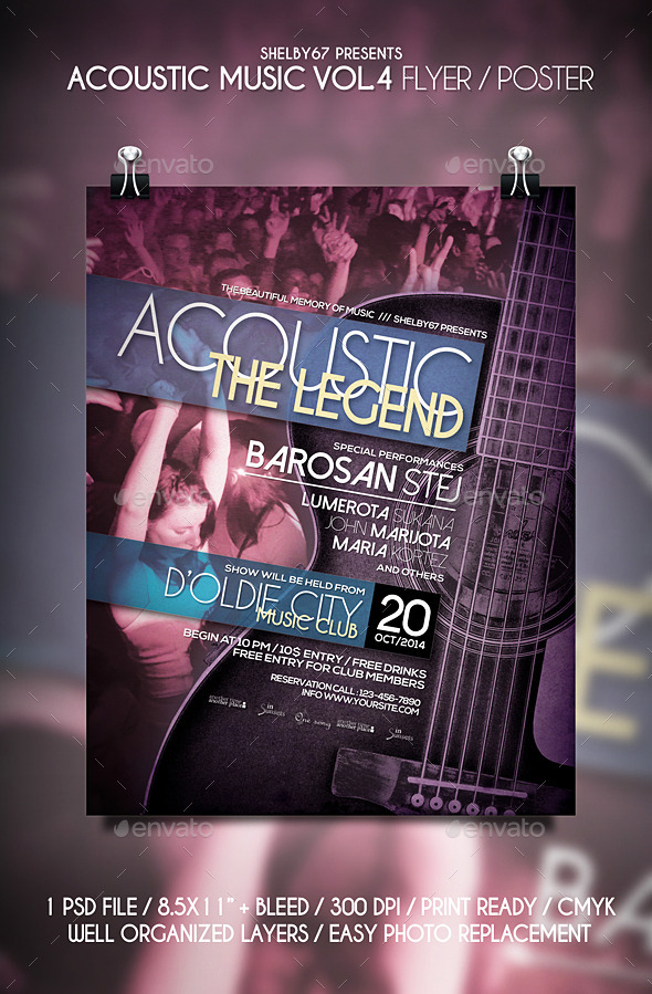 free music poster templates - Delliberiberi - music flyer template