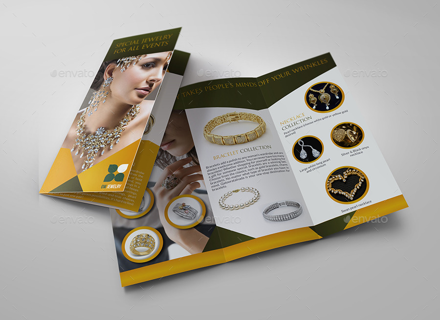 Jewelry and Accessories Tri Fold Catalog Brochure by OWPictures