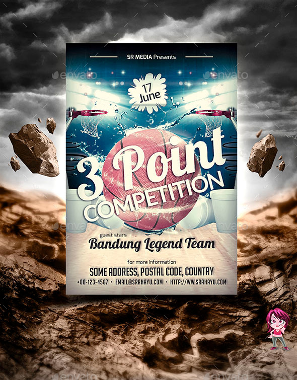 3 Point Competition Flyer Template by SRahayu GraphicRiver - competition flyer template