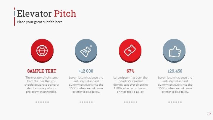 Startup Pitch Deck Leader-Up Presentation Template by SanaNik