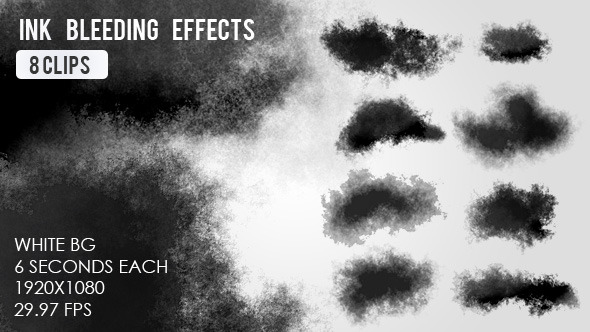 Ink Bleed Effects - 8 Clips by VF VideoHive