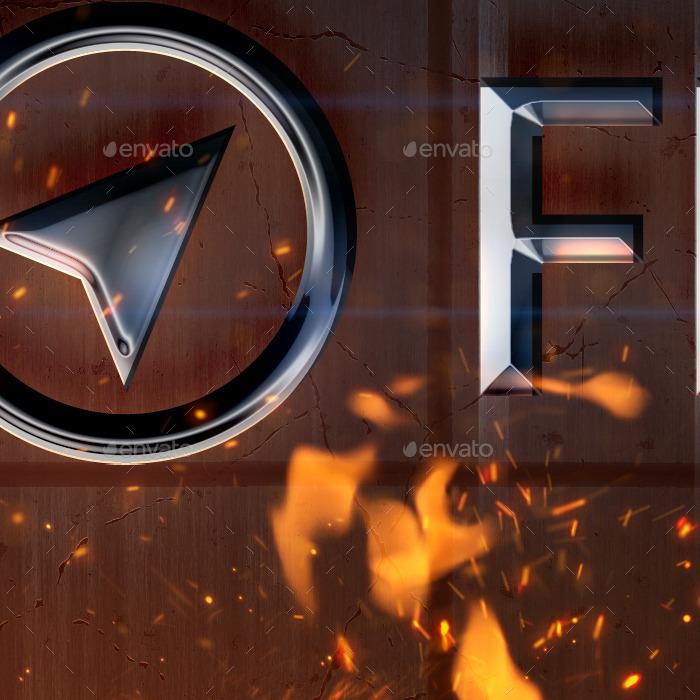 Flame Logo Mockup by valery_medved GraphicRiver - flame logo