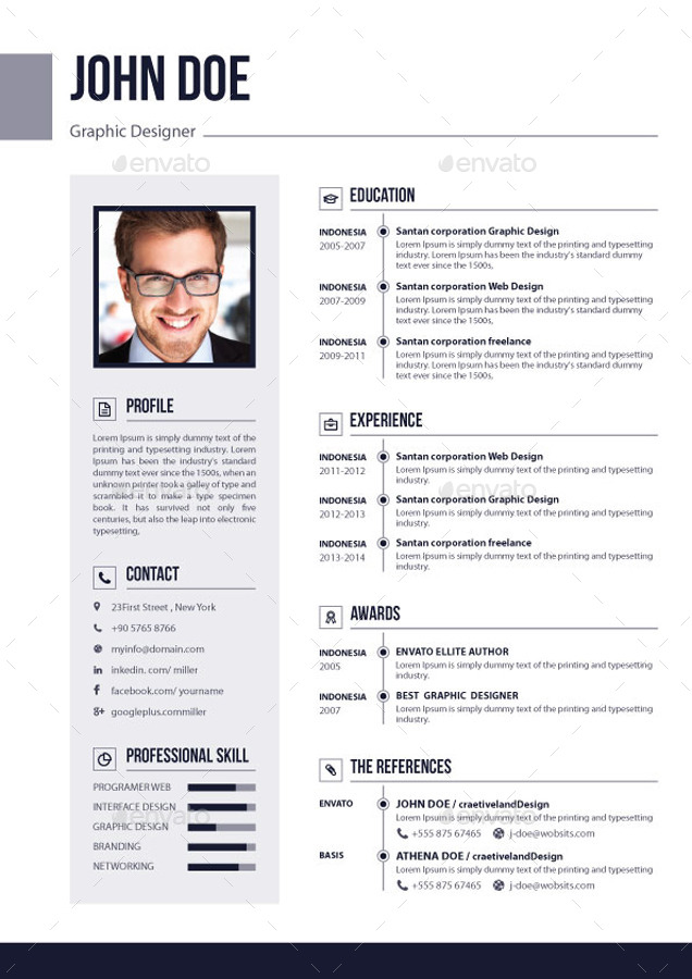 3 Pages Resume / CV V 02 by EliteGraphic GraphicRiver