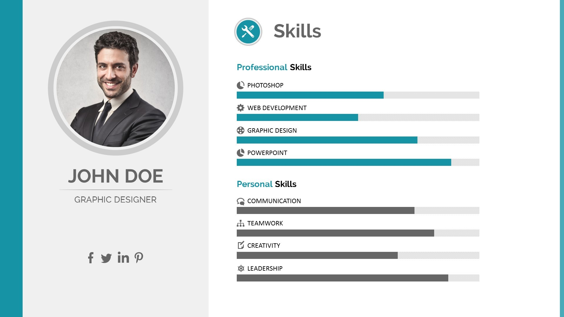 template cv pptx download