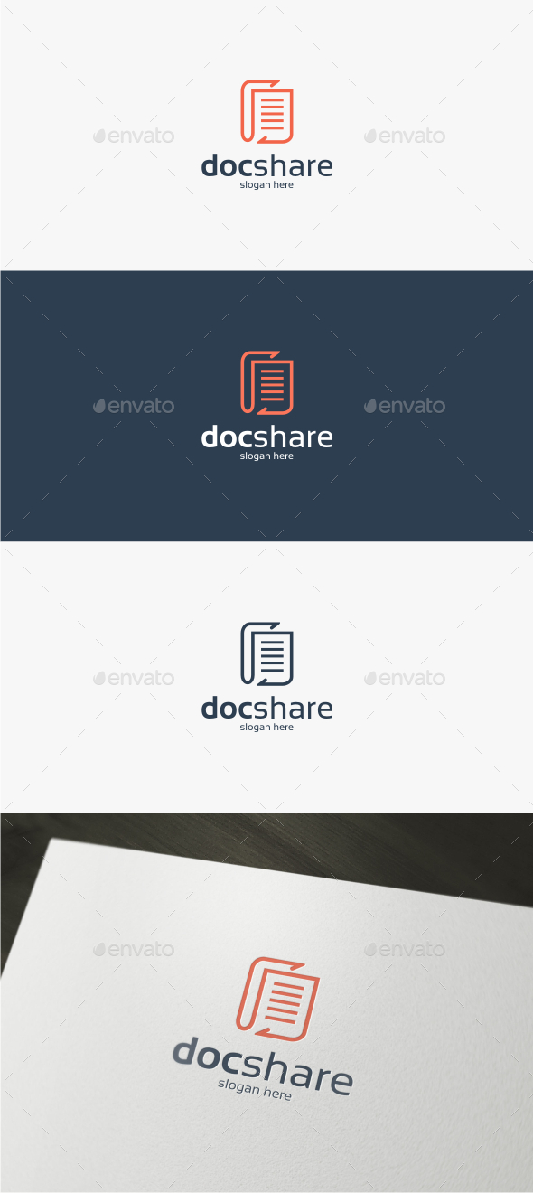 Doc Share - Logo Template by trustha GraphicRiver - docshare