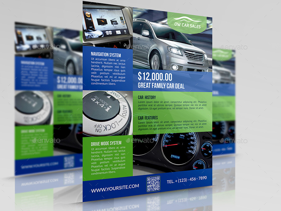 Car for Sale Flyer Template Vo2 by OWPictures GraphicRiver - car for sale flyer template