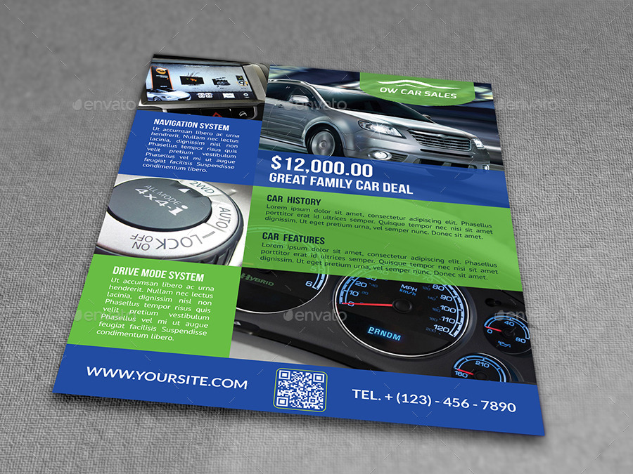 Car for Sale Flyer Template Vo2 by OWPictures GraphicRiver - car sale flyer template