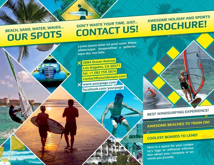 Holiday Trifold Brochure by pkarolina GraphicRiver - sports brochure