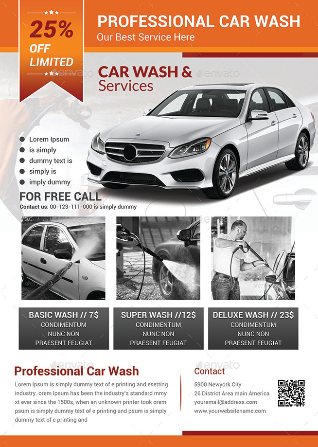 Car Wash Flyer Templates by afjamaal GraphicRiver