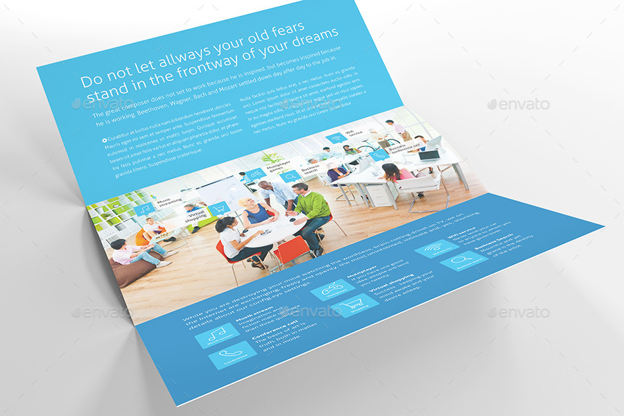 Metro Horizontal Tri-fold Flyer