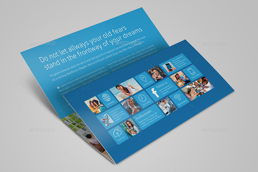 Metro Horizontal Tri-fold Flyer by mikinger GraphicRiver
