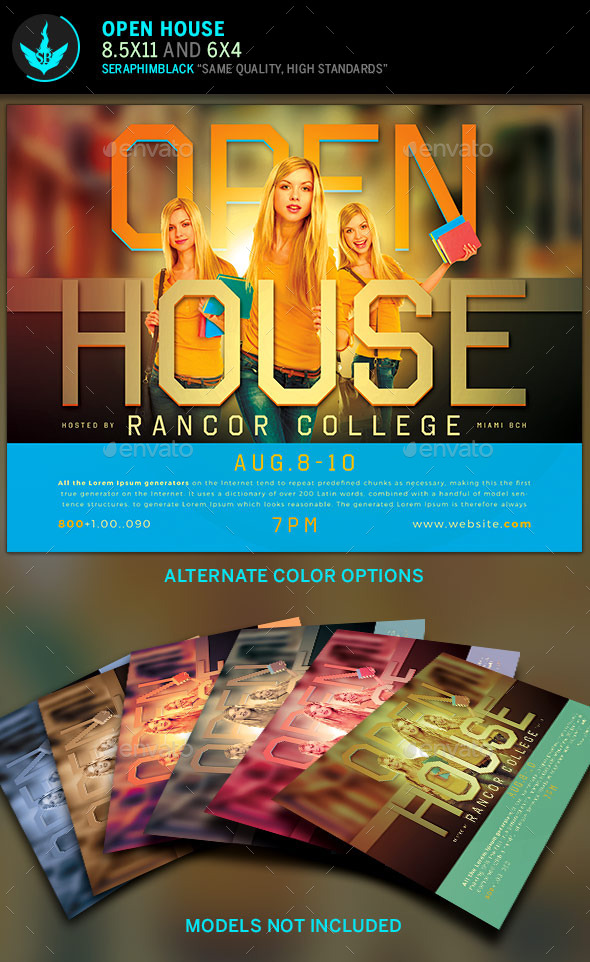 Open House Flyer Template by SeraphimBlack GraphicRiver