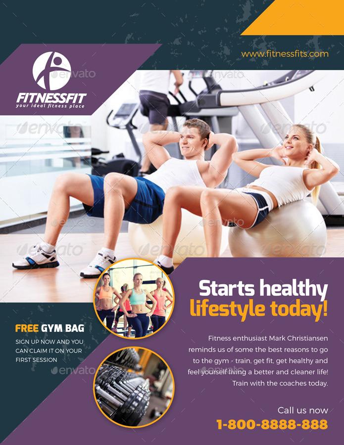 Sport \ Fitness Flyer Vol08 by kitcreativestudio2 GraphicRiver - fitness flyer