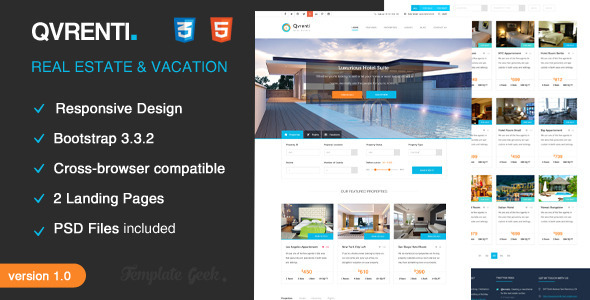 Qvrenti - Responsive Real Estate HTML5 Template by Template-Geek