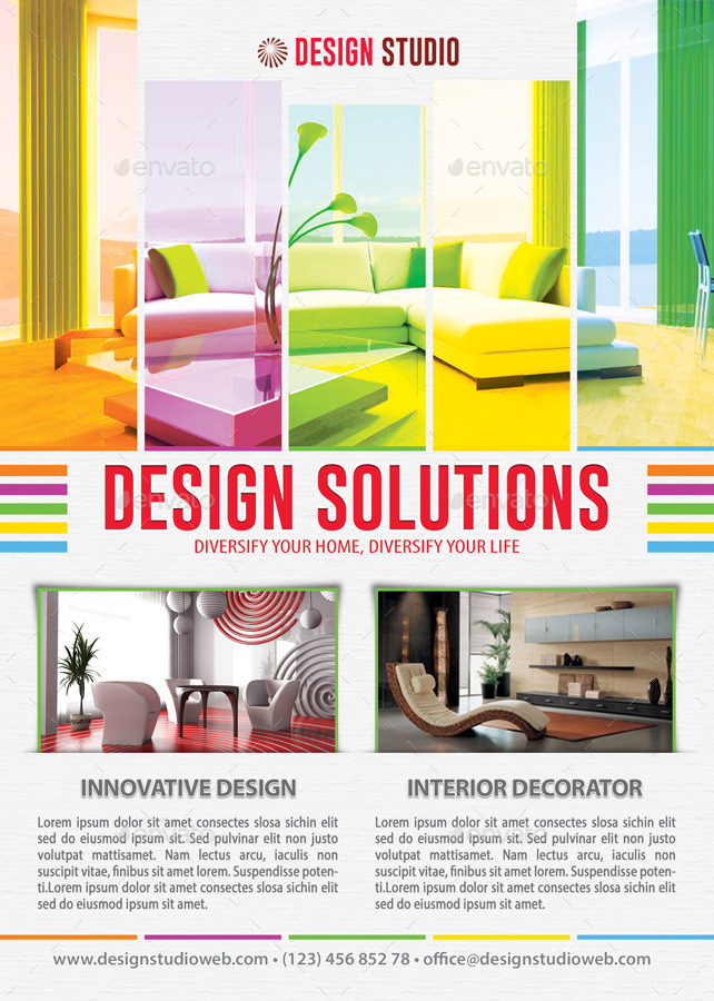 Interior Design Solution Flyer Template 102 by 21min GraphicRiver - interior design brochure template