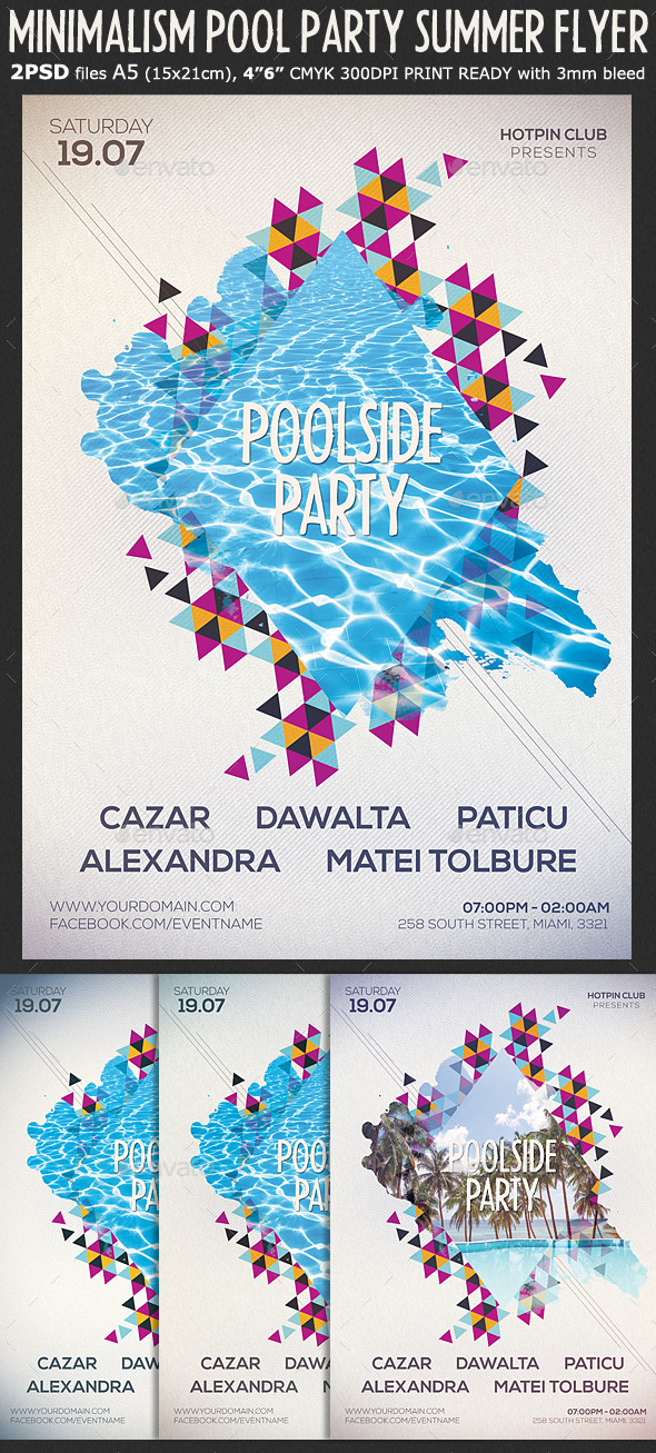 Minimalism Summer Party Flyer Template by Hotpin GraphicRiver