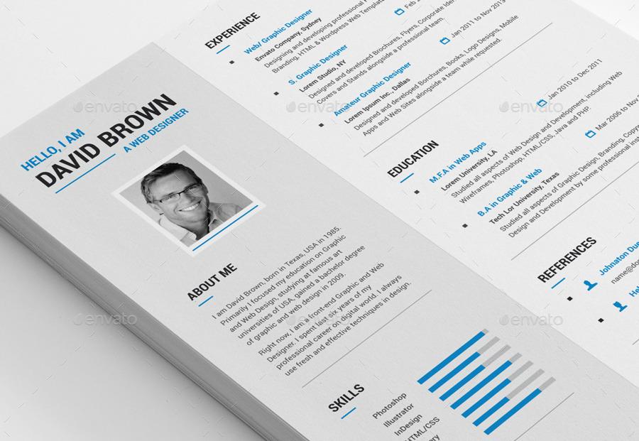 Creative Resume by MR-Design GraphicRiver - creative resume