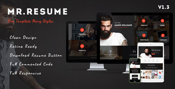 MrResume - One Page Resume\/Personal HTML Template by UserThemes - resume website template