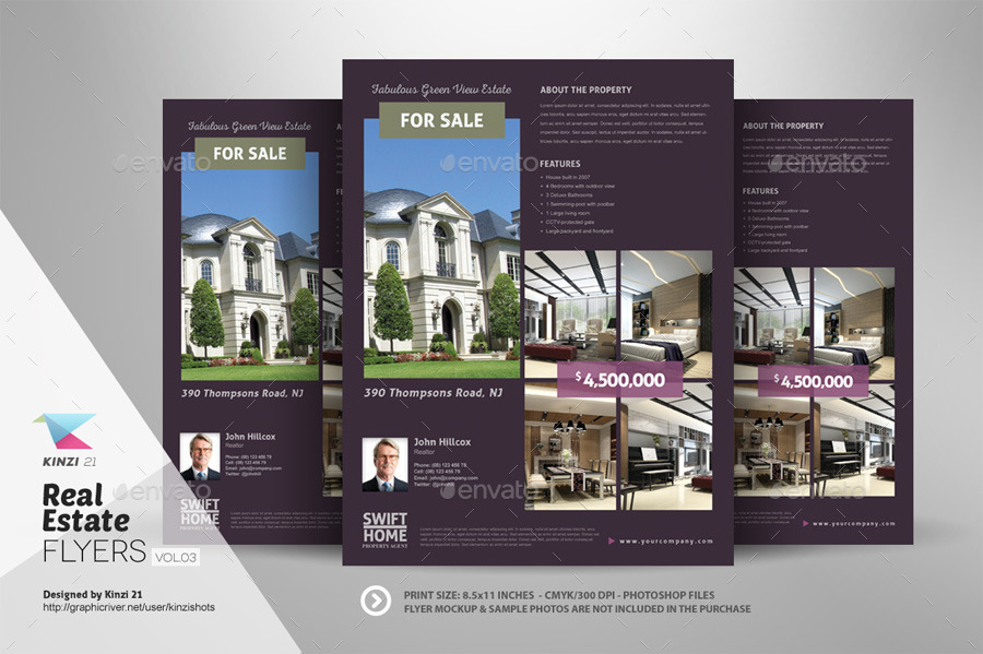 Real Estate Flyer Templates vol03 by kinzishots GraphicRiver