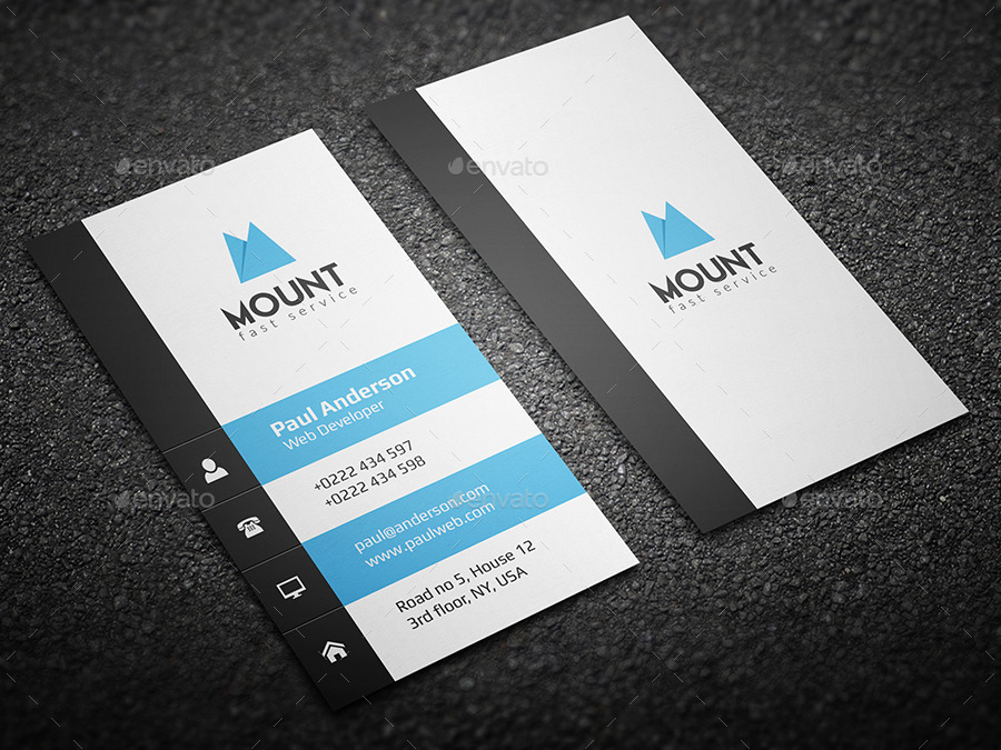 Creative Vertical Business Card by th_studio GraphicRiver