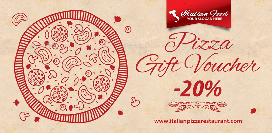 Italian Restaurant Gift Voucher Template 40 by 21min GraphicRiver - Lunch Voucher Template