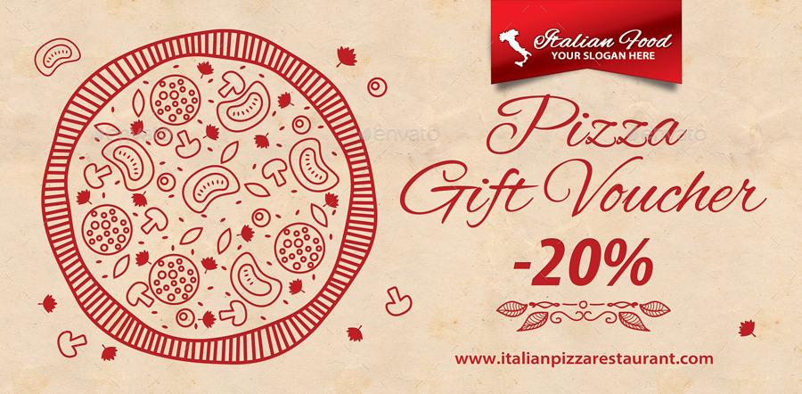 Italian Restaurant Gift Voucher Template 40 by 21min GraphicRiver - Lunch Voucher Template